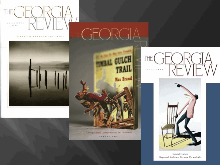 Georgia Review vintage covers