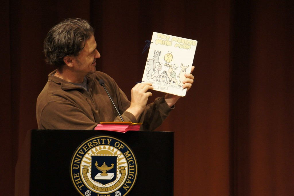 Dave Eggers shows off The Monster Mish Mash