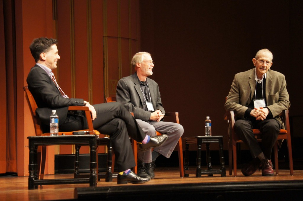 From left: Michael Byers, Charles Baxter, and Philip Levine