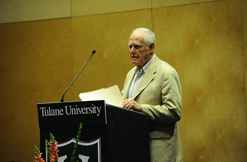 James Salter, American Short Story Writer and Novelist reads at Kendall Cram, Tulane University, New Orleans, November 10, 2010. Sponsored by the English Department as well as the Creative Writing Fund.