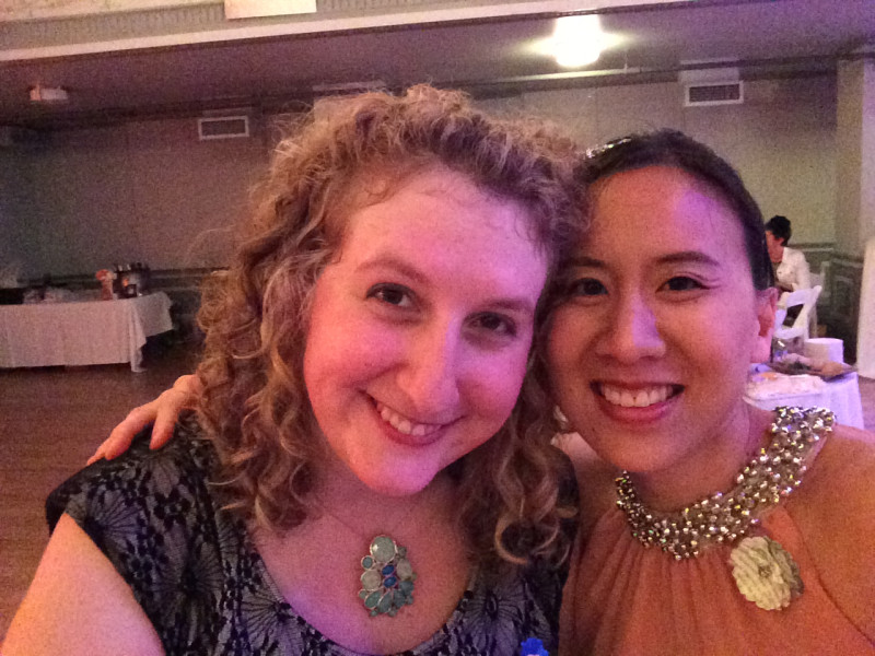 Anne Stameshkin and Celeste Ng at the One Story Debutante Ball