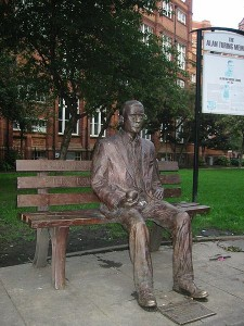 Alan Turing memorial statue in Sackville Park, Manchester