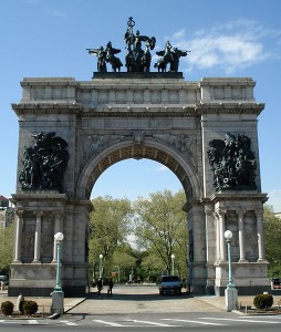 The Soldiers' and Sailors' Memorial Arch at Grand Army Plaza, in Brooklyn / photo credit Jeffrey O. Gustafson from Wikimedia Commons