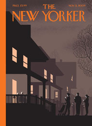 """Unmasked,"" by Chris Ware (cover of the New Yorker's Nov. 2 issue)"