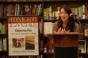 Fei reads at B&N in Park Slope, April 2010 / credit: from author's website