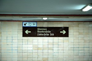 subway station where divide between West and East Berlin used to be / photo by tinou bao