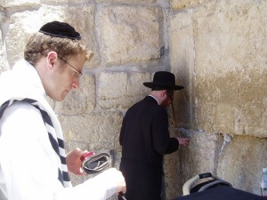 at the Western Wall / photo credit: Ram Viswanathan