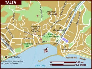 a map of Yalta